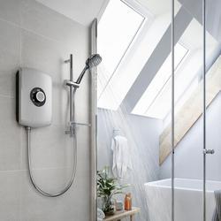 Amore Electric Shower - Brushed Steel image