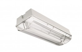 IP65 Polycarbonate body. Clear Fresnel lens. Ceiling or Wall mounted. White flame retardant body and lens impact resistant. Hinged gear tray for ease of installation and maintenance. Order lamp separately,...