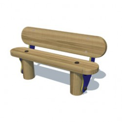 Furniture - 1m Bench With Back image