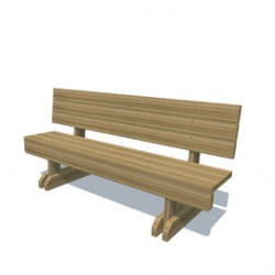 Furniture - Bench Seat With Back image
