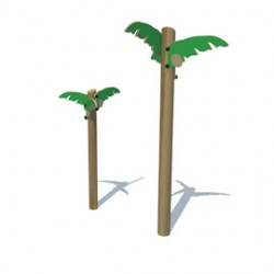 These smooth timber posts are topped with durable plastic palms to transform your outdoor space and inspire imaginative role play....