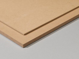 MDF (Melamine Faced Medium Density Fibreboard) has exactly the same surface finish as MFC but as a fibreboard core.   Furniture Grade MDF is often used as wall panelling / slatwall in commercial applications, such as retail and hospitality....