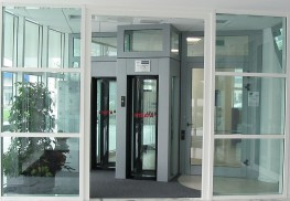 HiSec 6Q Full Height Square Security Booth - 600 mm Walkway - Gunnebo