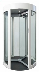 GyroSec FW Motorized Security Revolving Door - Semi-external, 3 wings image