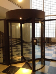 Automatic Security Revolving Door - Semi-external, 3 wings and shutters image