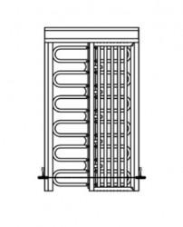 RotaSec HS90SC Internal/external full-height security turnstile image