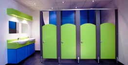 A bright, robust and practical cubicle range with curved doors and divisions for teacher supervision. Junior is available in a variety of panel height options to suit keystage and privacy requirements. Offering high levels of strength with integral structural ...
