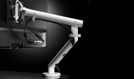 Flo White Monitor Stand Arm image