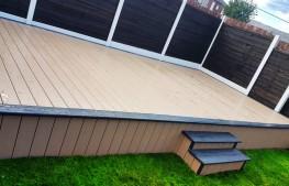 Fitrite Warm Beech PVCu Deck Board - Fitrite UK