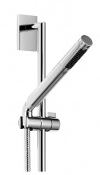 """Product specifications: bar-type hand shower with anti-scale system and back flow preventer; Rosettes 78 x 55 mm; 3/8"""" x 1/2"""" x 1750 mm shower hose with turning cone; gauge 800 mm; slide bar; Max. flow 9 l/min...."""