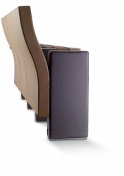 The 13111 Line chair is designed for corporate conference rooms and auditoriums. The design of the backrest creates the impression of visual continuity in the rows of seats. Acoustic features: this seat allows incorporation of the Helmholtz acoustic resonator....