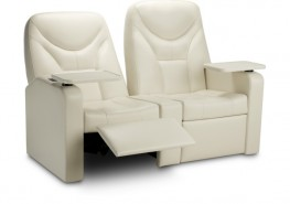 Individual, amply-sized seat with a high level of comfort which was designed for use in high level VIPS areas, cinemas Home Cinema. Ergonomics: possibility to adjust automatically the backrest and footrest position using an electronic button situated on the ch...