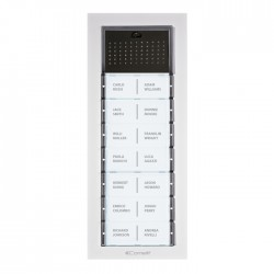 Audio analogue version : a new entrance panel design featuring versatile technology. With their clean, attractive lines, the modular elements guarantee optimal results by offering simple configuration, style and reliability. Details make all the difference, IK...