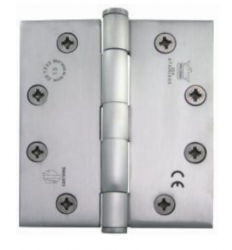 A hybrid five knuckle hinge incorporating two styles of bearing, plain knuckle bearings at the centre, and concealed or shrouded polymer bearings at the outer knuckle load bearing faces. This allows a hinge style regularly seen in recent years to be brought in...