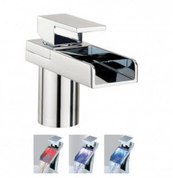 Water Square Lights basin monobloc with lights image
