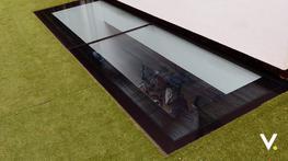 Internal and external walk on skylights, rooflights and floorlights image