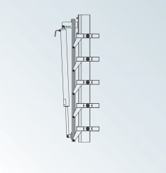 DucoSun Cubic is available with either fixed or electrically adjustable solar shading blades. They are installed to the support system on-site (either horizontally or vertically). Depending upon the type, fixed solar shading blades are fitted at a blade mounti...
