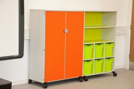 Vista Mobile 4 shelf unit with doors - British Thornton ESF