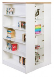 Island Static Bookshelf with glass display image