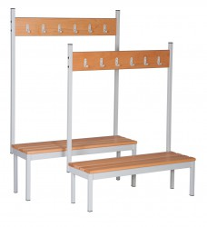 Perimeter benching is part of a comprehensive range of cloakroom benching designed to withstand the rigors of everyday use within a school changing facility. The benching is ideal for changing areas and can be used around the perimeter of the room. Comes compl...