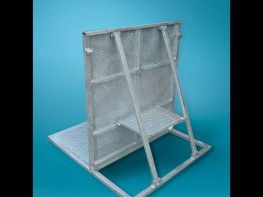 Heavy duty stage barrier for crowd control in front of stages, foldable. Quality and durability: The panels are made out of pre-galvanised materials for a long-lasting corrosion protection in all weather conditions. The tubes are 360° welded and each wire is ...