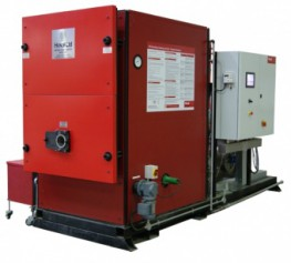 The STU is a modulating high efficiency skid mounted commercial wood pellet boiler fitted with external stoker and fuel pick-up system. The STU ranges from 195kW to 975kW. A flexi-worm feed screw is available to connect to storage facilities as an alternative ...