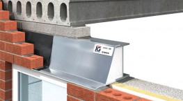 To achieve loading figures lintel must be built in with blockwork as shown. Extended fin 225mm high for lintels greater than 2100mm in length. Lintels may be propped to facilitate speed of construction....