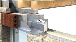 To achieve loading figures lintel must be built in with blockwork as shown. Maximum overhang of 30mm on outer leaf. Extended fin 225mm high for lintels greater than 2100 in length. Lintels may be propped to facilitate speed of construction....