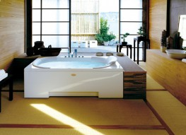 The research and innovation of Jacuzzi® blends with the age-old eastern wellness experience and legendary wisdom: this is where J-Sha Mi stems from, the only whirlpool bath with a real Shiatsu function. A rectangular large-sized bath, J-Sha Mi offers the expe...