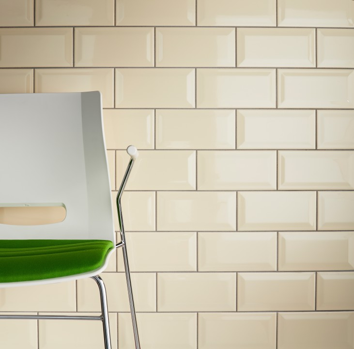 Green and brown brown living rooms and brown on pinterest - White brick tiles black grout ...