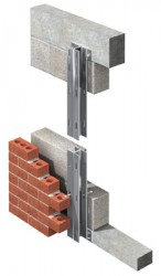 The DU Wind post fits within the cavity and normally spans between floor structures. The inner leaf of the cavity wall is totally undisturbed. The DU Windpost is a heavier duty variant of the U Windpost....