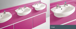 Durable and flexible, laminate vanity units come in a choice of styles and 36 colours....