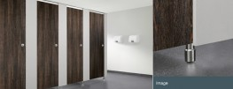 Where budget is the dominant factor, the Axis toilet cubicle is the answer.Economical and stylish washroomPolished aluminium door furniture and fittingsChoice of 36 coloursMelamine faced chipboard with 1mm pvc lippingOptional HPL postformed pilaster in 1...