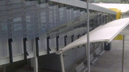 Shadoglass is a fixed or controllable external glass louvre solar shading system that may be installed either vertically or horizontally in front of the façade or on the roof. It is also suitable either as a primary or secondary facade element for ventilation...