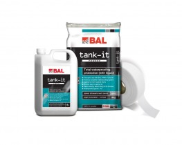 BAL Tank-it is the ultimate waterproofing kit providing complete protection in any environment. It is suitable for use internally or externally to waterproof areas prior to tiling. Rapid-setting, BAL Tank-it can be tiled after only 90 minutes for fast-track pr...