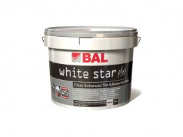 Newly formulated with our advanced Fibre Strand Technology, BAL White Star Plus is a ready-mixed adhesive for walls. Highly flexible and non-slip BAL White Star Plus is water-resistant and suitable for fixing ceramics, mosiacs and porcelain tiles and some natu...