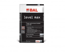 Specify BAL Level Max for levelling floors of varying heights from 3mm to 80mm in a single application. Suitable for commercial or domestic projects, it is fibre reinforced meaning it can be used over a range of substrates including wooden substrates at 3mm de...
