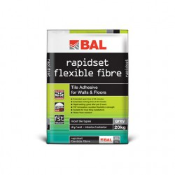 Rapid-setting highly polymer modified, water/ frost resistant cementitious  tile adhesive for walls and floors....