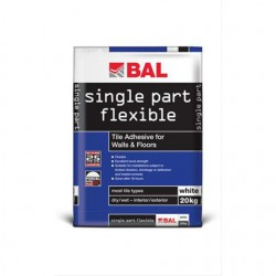 single part flexible tile adhesive by bal adhesives. Black Bedroom Furniture Sets. Home Design Ideas