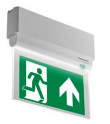 Edge-lit LED escape route exit luminaire image
