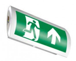 LED back-lit exit sign image