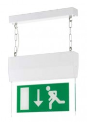 Distinctive edge-lit exit sign image