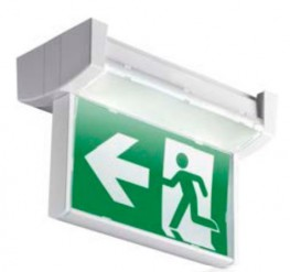 Edge-lit LED exit sign image