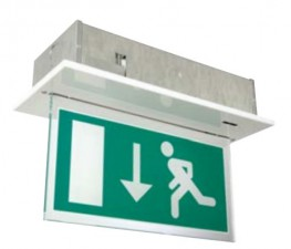 Edge-lit LED-FL exit sign image