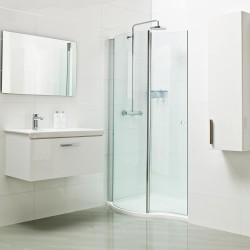 Create a true style statement in your bathroom with our beautiful Lumin8 Curved Walk-in. The curvaceous nature of the Walk-in presents a luxuriously large showering area – and the curved glass which helps to create improved water integrity cleverly stows ins...