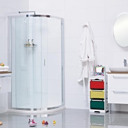 The Lumin8 One Door Quadrant is an ideal showering solution when side entry is more practical for the smaller bathroom. The high quality thick glass bows out to create an expansive 900mm usable space on the 800 x 800mm model and 1000mm of space on the 900 x 90...
