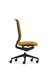 Task chair with airflow back .The Evolve chair designed by Paul Brooks includes a host of new features, materials and user adjustments to enhance comfort and flexibility. Evolve is a comfortable and flexible task chair, best suited to corporate office environ...