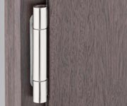 A high degree of transparency using glass and narrower profile views is the current trend in modern exterior door design. New, innovative rebate constructions are used that also require a completely new approach in hinge technology for wooden exterior doors, taking legal requirements such as the energy saving legislation and the requirement for thicker and therefore heavier glass into consideration.The newly developed door hinge systems in the BAKA Protect 2000 product range (with 2D adjustment) and the BAKA Protect 4000 product range (with 3D adjustment) are optimally adapted to the requirements of the current rebate constructions and make it possible to follow the trend towards narrower door profiles. The increased load capacities up to 120 kg with 2D adjustment and up to 160 kg with 3D adjustment also support heavy glass, which is line with current market requirements. This hinge system is rounded off by the usual comprehensive range of finishes and the drilling jig technology that is required for functional and efficient installation.