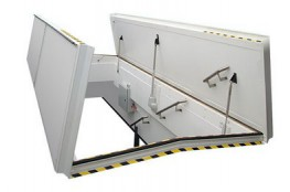 SRH-DL Double Leaf Hatch with central beam - Surespan Limited