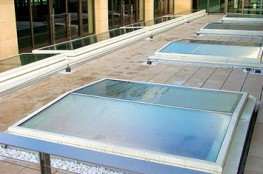 Surespan FGL fixed glazed rooflights incorporate a frameless design eliminating water ponding. The low profile thermally broken aluminium extruded frame with triple seals is structurally bonded to the 35.5mm sealed double glazed unit, comprising Pilkington 6mm...